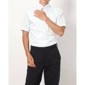 形態安定ノーアイロン 半袖 レイヤードクールインナー付きシャツ ボタンダウン (ライトグリーン)