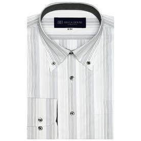 形態安定 ボタンダウン衿 長袖ビジネスシャツ (グレー)