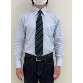 【超形態安定】 ボタンダウン 綿100% 長袖ビジネスワイシャツ (ライトブルー)