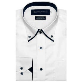 袖の長いサイズ・大きいサイズ【超形態安定】 形態安定 ボットーニ 綿100% 長袖ビジネスワイシャツ (ホワイト)