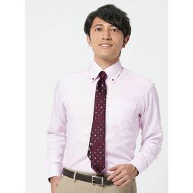 【ディズニー】 形態安定 ボタンダウン 長袖  ビジネスワイシャツ (ライトピンク)
