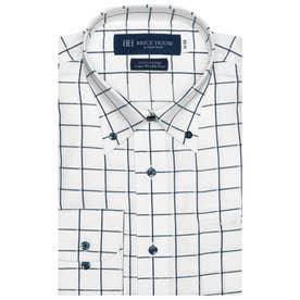 TOKYO SHIRTS袖の長いサイズ・大きいサイズ【超形態安定】 形態安定 ボタンダウン 綿100% 長袖ビジネスワイシャツ (ブルー)