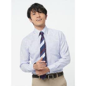 【ディズニー】 形態安定 ボタンダウン 長袖  ビジネスワイシャツ (ライトパープル)