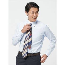 【ディズニー】 形態安定 ボタンダウン 長袖  ビジネスワイシャツ (ライトブルー)