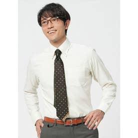 【ディズニー】 形態安定 ボタンダウン 長袖  ビジネスワイシャツ (ライトイエロー)