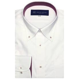 形態安定 ボタンダウン 長袖  ビジネスワイシャツ (ライトピンク)