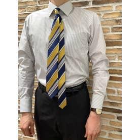 形態安定 ワイド 長袖  ビジネスワイシャツ (ライトグレー)