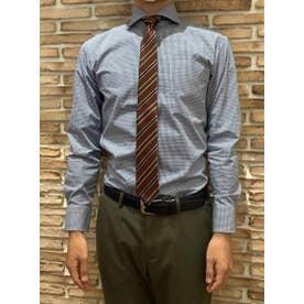 形態安定 ホリゾンタルワイド 長袖  ビジネスワイシャツ (ネイビー)