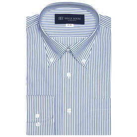 形態安定 ボタンダウン 長袖  ビジネスワイシャツ (ライトブルー)