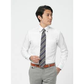 【SUPIMA】形態安定 ボットーニ 綿100% 長袖ビジネスワイシャツ (ホワイト)