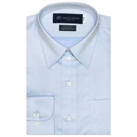 【SUPIMA】形態安定 レギュラー 綿100% 長袖ビジネスワイシャツ (ライトブルー)