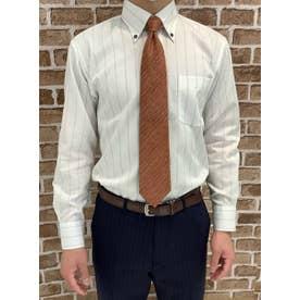 【SUPIMA】形態安定 ボットーニ 綿100% 長袖ビジネスワイシャツ (ライトグレー)