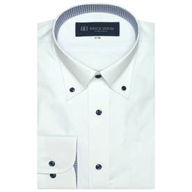 大きい・袖が長いサイズ 形態安定 ボタンダウン 長袖ビジネスワイシャツ (ライトブルー)