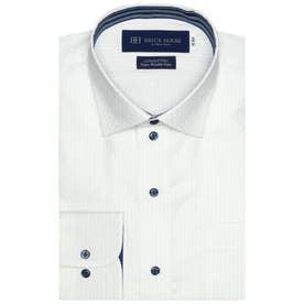 【超形態安定】 ワイド 綿100% 長袖ビジネスワイシャツ (ライトブルー)