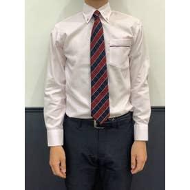 【SUPIMA】形態安定 ボタンダウン 綿100% 長袖ビジネスワイシャツ (ピンク)