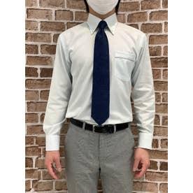 【SUPIMA】形態安定 ボタンダウン 綿100% 長袖ビジネスワイシャツ (ライトグリーン)