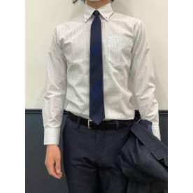 【SUPIMA】形態安定 ボタンダウン 綿100% 長袖ビジネスワイシャツ (ブルー)