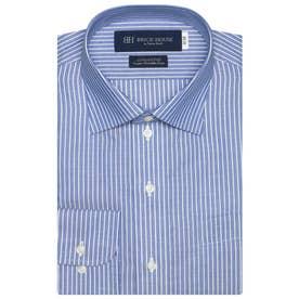 袖が長い・大きいサイズ【超形態安定】 ワイド 綿100% 長袖ビジネスワイシャツ (ダークブルー)