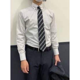 形態安定 ボットーニ 長袖ビジネスワイシャツ (グレー)
