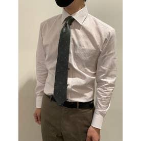 形態安定 ワイド 長袖ビジネスワイシャツ (レッド)