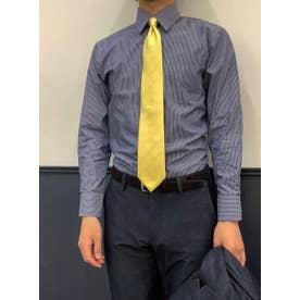 形態安定 レギュラー 長袖ビジネスワイシャツ (ダークネイビー)