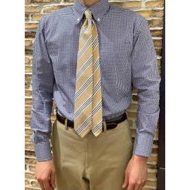 形態安定 ボタンダウン 長袖ビジネスワイシャツ (ネイビー)