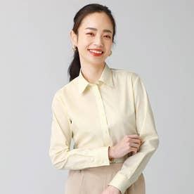 形態安定ノーアイロン レギュラー衿 長袖ビジネスワイシャツ (レモンイエロー)