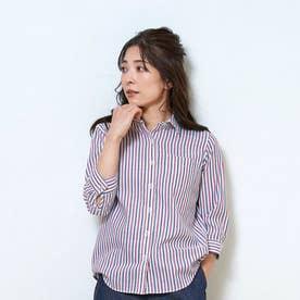 形態安定ノーアイロン レギュラー衿 やわらかガーゼ 七分袖ビジネスワイシャツ (マルチ)