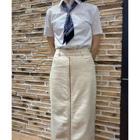 形態安定ノーアイロン レディース半袖シャツ レギュラー衿 COOLMAX(R) (ライトグレー)