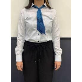 形態安定 ワイド 長袖 ウィメンズビジネスシャツ (ライトブルー)