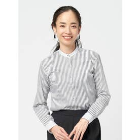 【SUPIMA】形態安定 スタンド 綿100% 長袖ビジネスシャツ (グレー)
