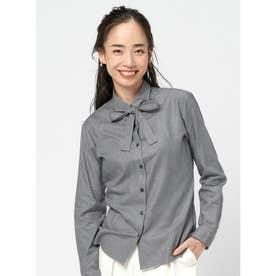 【SUPIMA】形態安定 レギュラー 綿100% 長袖ビジネスシャツ (ブラック)
