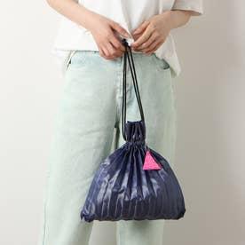PLEATS DRAW BAG (BLUE)