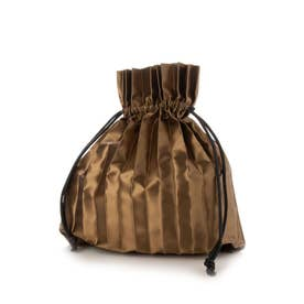 PLEATS DRAW BAG (BROWN)