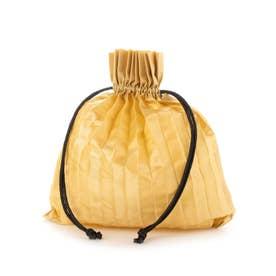 PLEATS DRAW BAG (BEIGE)
