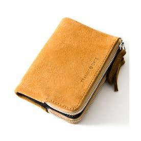 TransitGate G5 スエード ダブルジップ二つ折り財布 (BE)