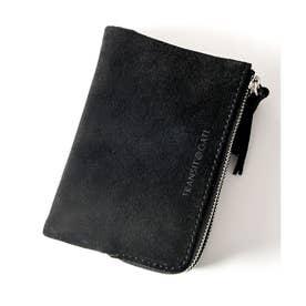 TransitGate G5 スエード ダブルジップ二つ折り財布 (BK)