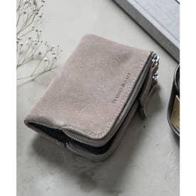 TransitGate G5 スエード ダブルジップ二つ折り財布 (GY)
