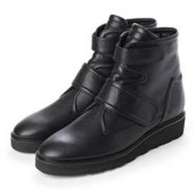 ストラップショートブーツ (ブラック)