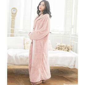 ふわもこ着る毛布【ロングマキシ丈】 (ピンク)