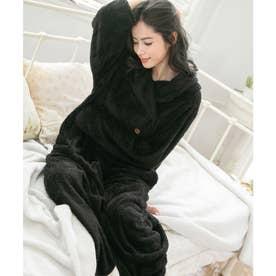 ふわもこ着る毛布【ロングマキシ丈】 (ブラック)