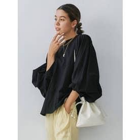 フェイクレザー巾着BAG(アイボリー)