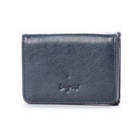 イタリア製牛革三つ折りミニ財布 (NVY)