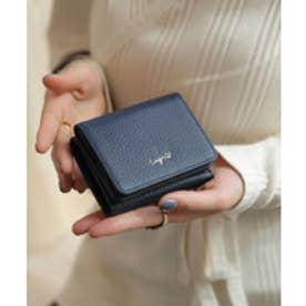 牛革三つ折りミニ財布 (NVY)