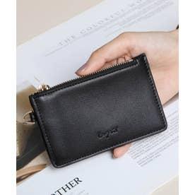 スムース カード財布キーリング付き (BLK)