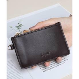 スムース カード財布キーリング付き (DBRN)