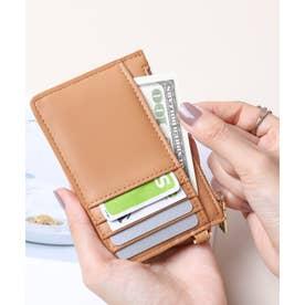 スムース カード財布キーリング付き (BEG)