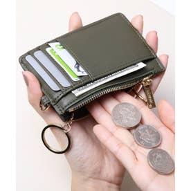 スムース カード財布キーリング付き (KHA)