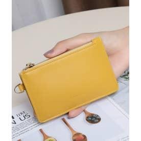 スムース カード財布キーリング付き (YEL)