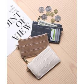 マッドクロコ カード財布キーリング付き (IVO)